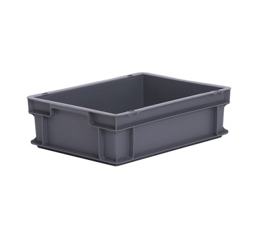 Grey Euro container 120mm high with 11 Litre capacity