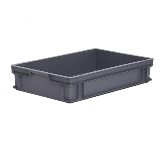 Shallow plastic container tray ideal for Euro and ISO pallets