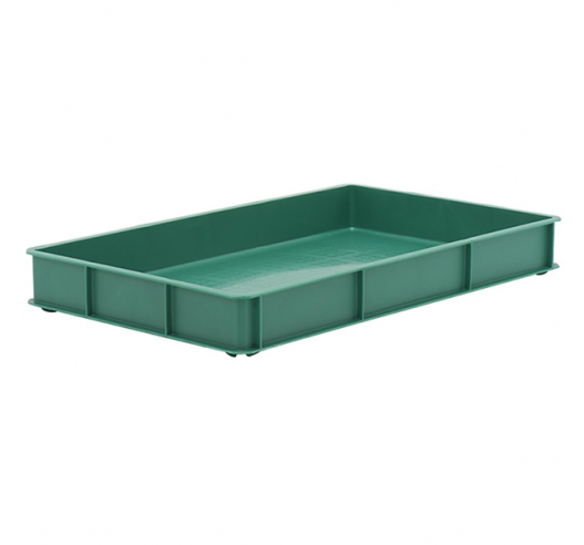 Green Stacking Confectionery Trays with solid sides and base