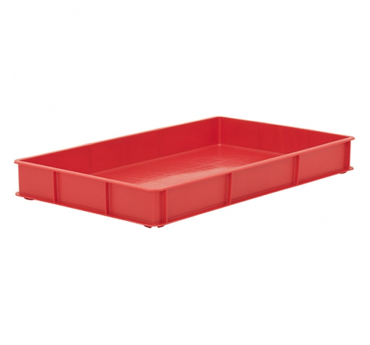 Red Stacking Confectionery Trays with solid sides and base