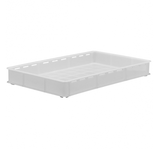 White Stacking Confectionery Trays Slotted sides and vented base