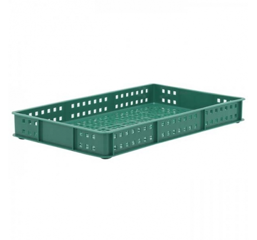 Green Stacking Confectionery Tray Ventilated sides and base