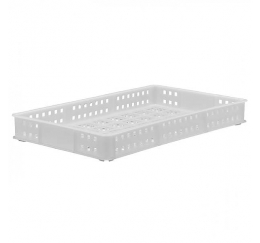 White Stacking Confectionery Tray Ventilated sides and base