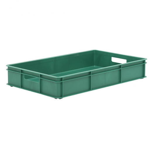 Green Stacking Confectionery Tray solid sides and base