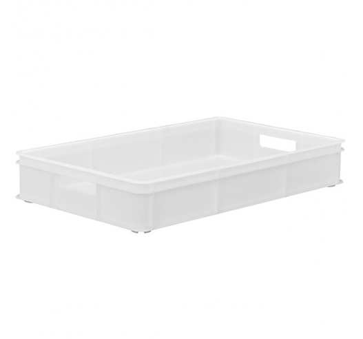 White Stacking Confectionery Tray solid sides and base