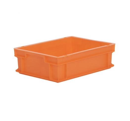 Orange plastic container (Euro) 400 x 300 x 120mm