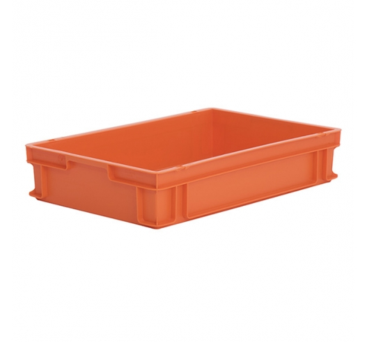 Strong plastic trays (large) in Orange