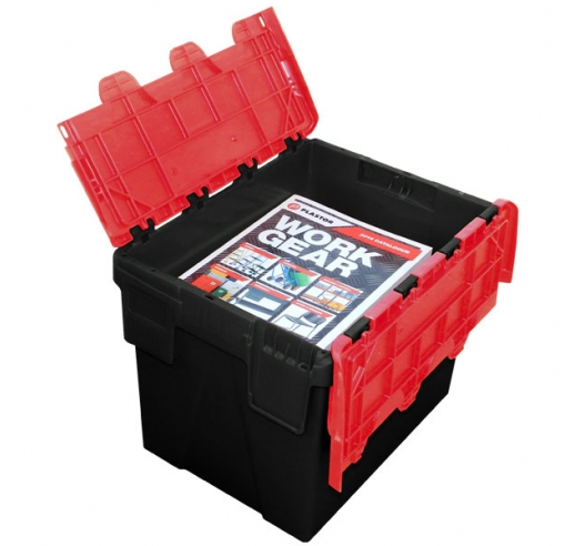 24 Litre Black and Red Storage Box Ideal for A4 Magazines