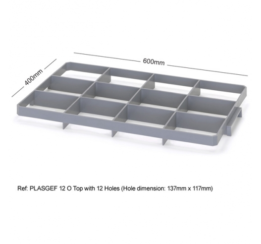 12 Hole Glass Divider / Bottle Crate Insert - Top Section