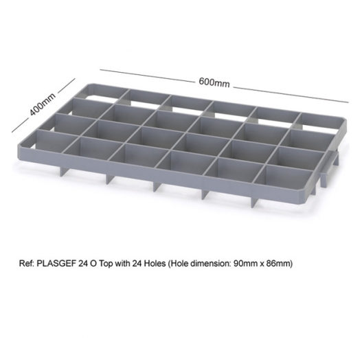 24 Hole Glass Divider / Bottle Crate Insert - Top Section