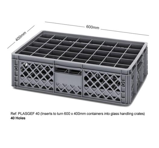 40 Holed Bottle Crate using Inserts PLASGEF 40