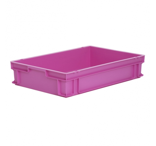 Pink Euro containers and trays