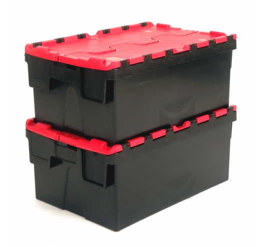 Hinged lid boxes for storage