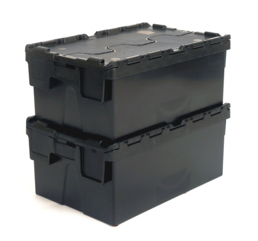 Stacked 40 Litre Crates
