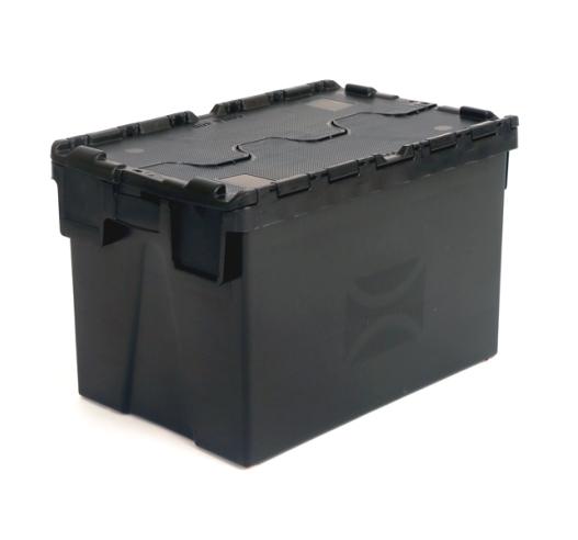 Closed Lid Black Crate