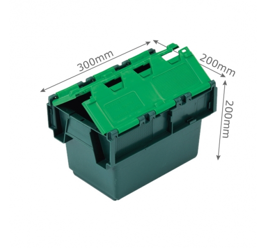 6 Litre Attached Lid Crate