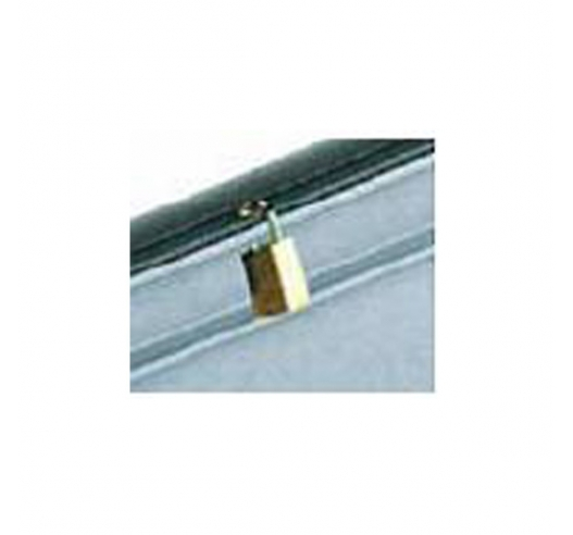 Padlock hole can be drilled (padlock not included)