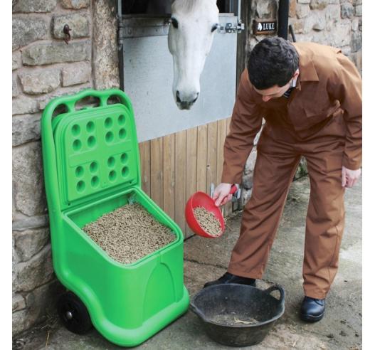 Animal Feed Cart on Wheels