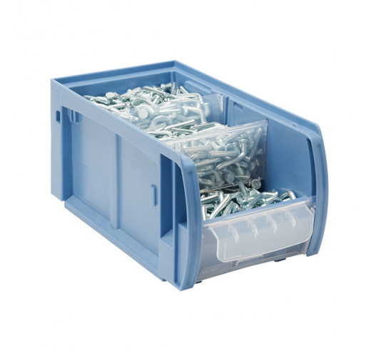 300mm Deep Kanban Picking Bin (CTB Range) with Cross Dividers and Feeder
