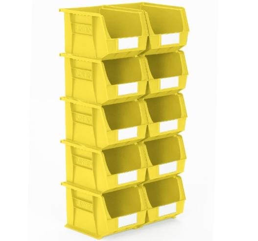 Yellow Plastic Linbins Size 6