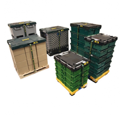 Loadhog lids on containers