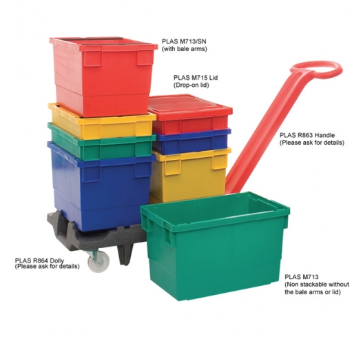 Stacking and Nesting Storage Boxes