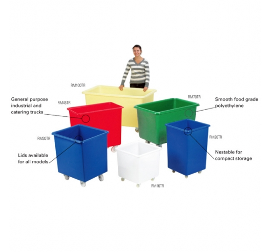 Food Grade Plastic Containers on Wheels