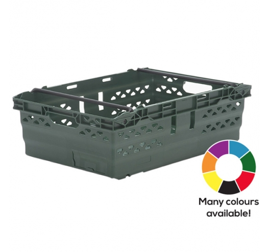 Green Supermarket Style Bale Arm Crates