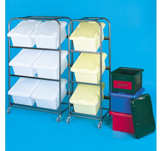 Stainless Rack with 3 boxes