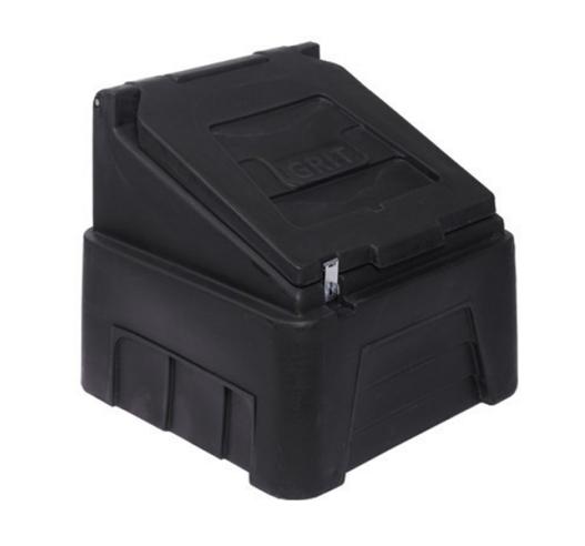 Black 200 litre grit bin