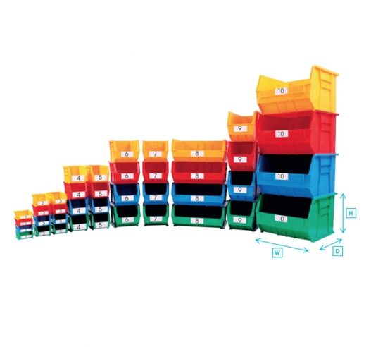 Coloured picking bins