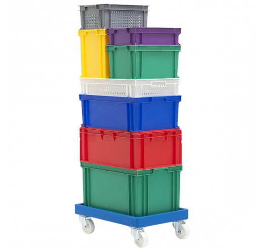 Coloured stacking euro containers