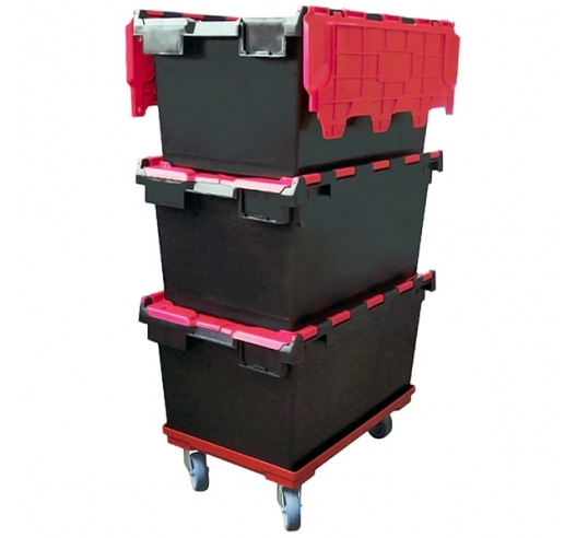 Dolly with 80 litre crates