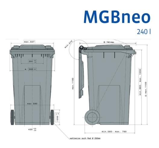 Wheelie bin specifications