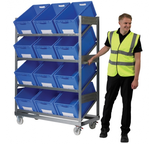 Mobile Container Shelf Trolley