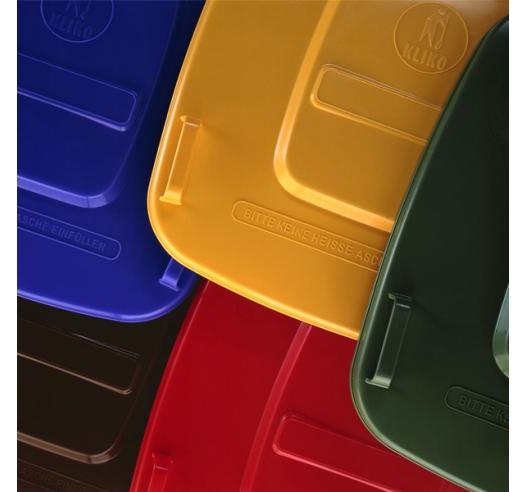 Wheelie bin coloured lids