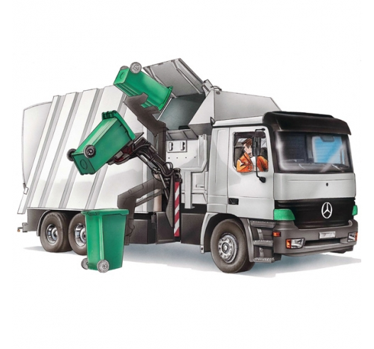 Wheelie bin compatible with refuse truck