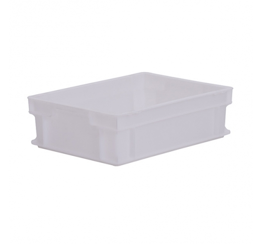 White plastic euro container 120mm high - food grade