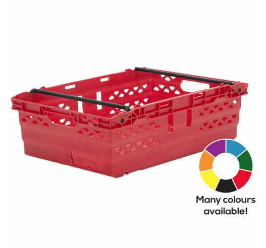 Red Supermarket Style Bale Arm Crates