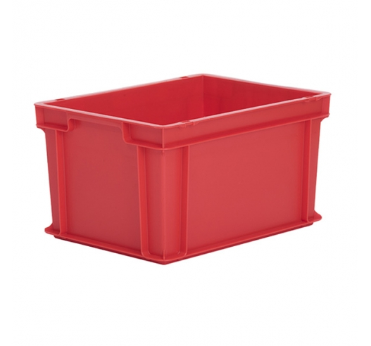 Red Euro container in half size (400x300) 220mm high - red