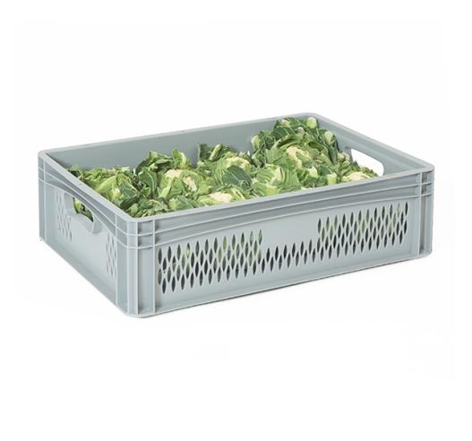 Tough ventilated stackable plastic boxes