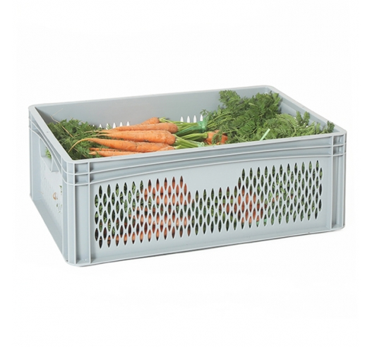 Ventilated Euro Container with Hand Holes