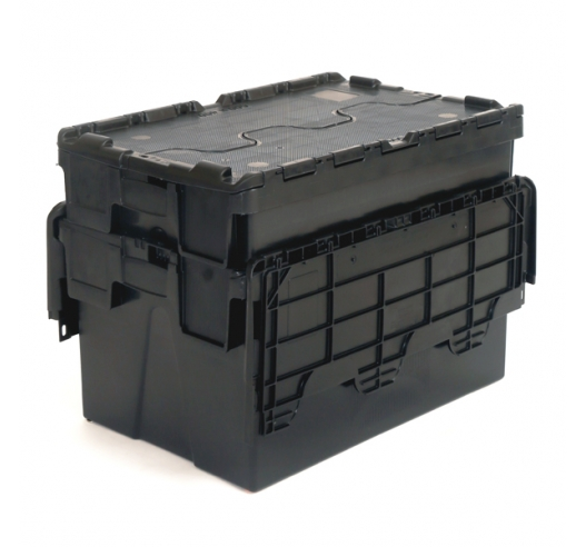 Nested Black Tote Boxes with 52 Litre Capacity