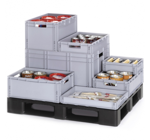 Grey Plastic Stacking Containers - Euro Boxes