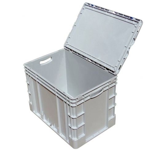 Deep Large Euro Container with Hinged Case Lid