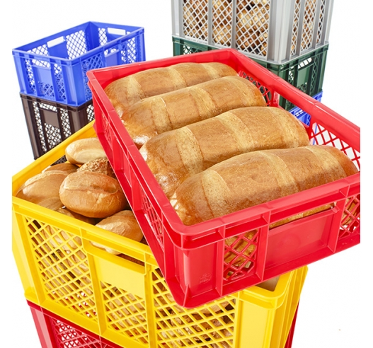 Bread containers with contents