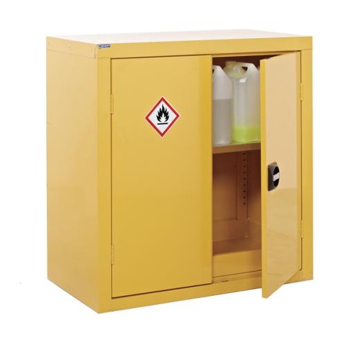 Hazardous cupboard open
