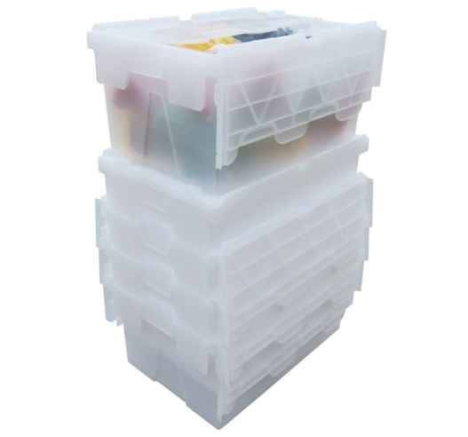 Clear 55 Litre Storage Boxes that Stack and Nest