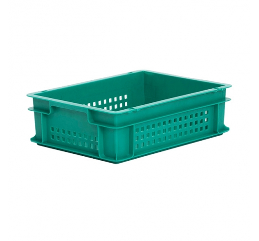 Green ventilated Euro container