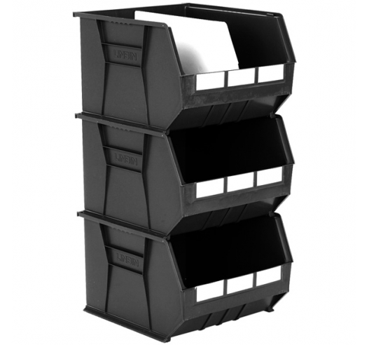 Size 10 Linbins in Black Recycled Plastic